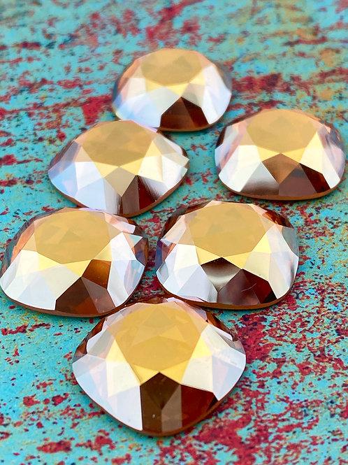 18mm Cushion Cut Flat Back Swarovski Crystal