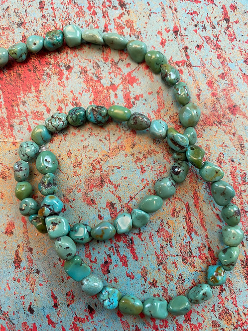 Royston Turquoise Nugget Beads