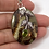 Thumbnail: Dragon Septarian Pendant w Center Peridot Leaf Focal