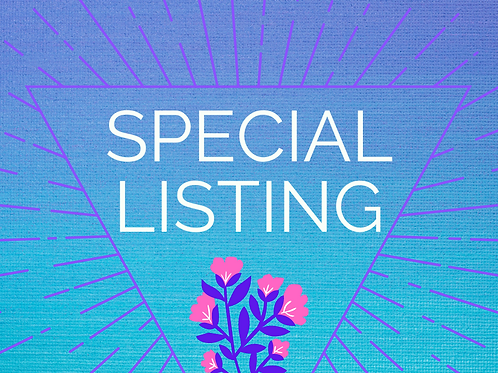 Special Listing for Kimberly S. Only!