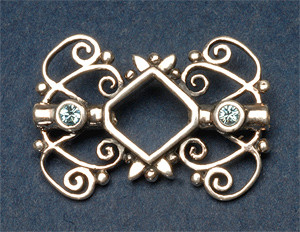 8mm Bicone Bead Frame with Crystals