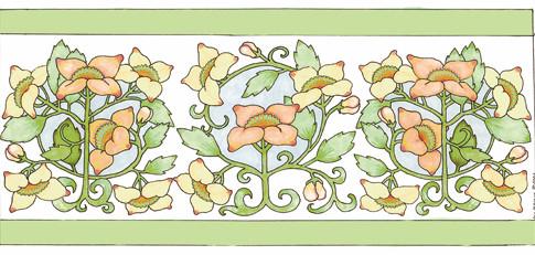 Golden Floral Border - Marker