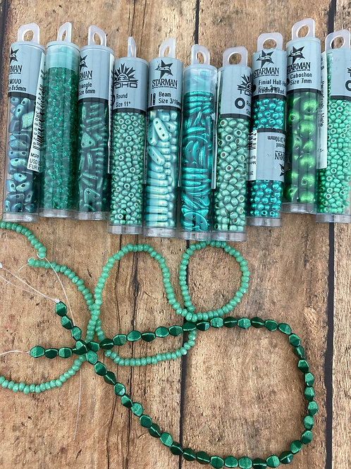 Big Green Bead Lot