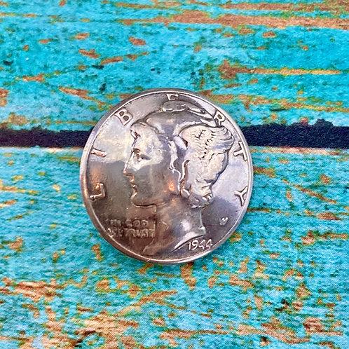 Liberty /Mercury Silver Dime Button Closure