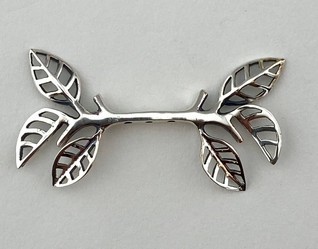 3 Strand Twig Spacer, Sterling Silver