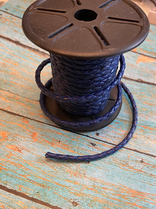 4mm Braided Faux Leather Round Cord