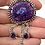 Thumbnail: Crystalized Purple Solar Quartz Pendant w Amethyst Dangles