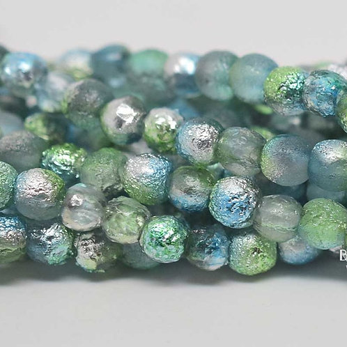4mm Laguna Celestial  Druk Beads