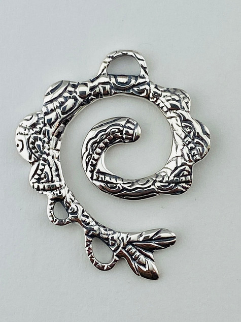 Sterling Silver Lace Pendant