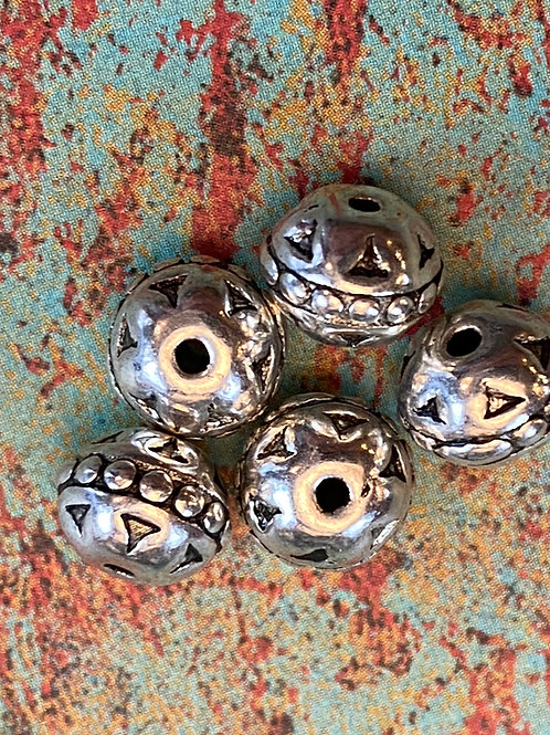Flower Top Hill Tribe Silver Beads
