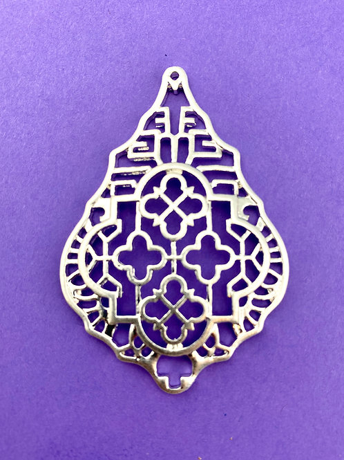Patterned Openwork Pendant (silver