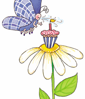 Sticker - Cupcake & Butterfly - Marker