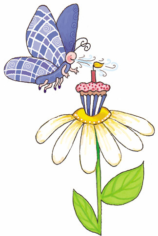 Sticker - Cupcake & Butterfly - Marker