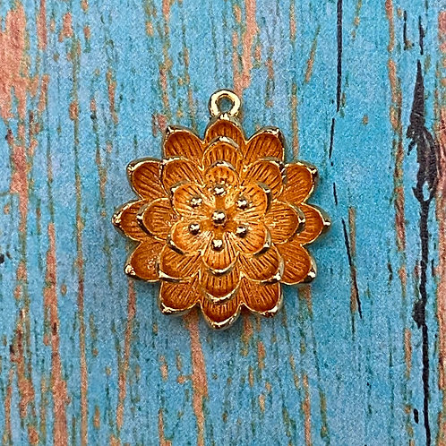 Gold Lotus Flower Connector