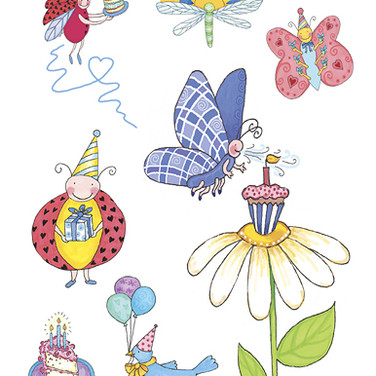 Stickers - Birthday Bugs - Marker