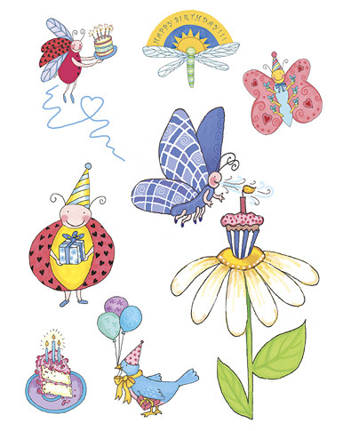 Stickers - Birthday Bugs - Marker