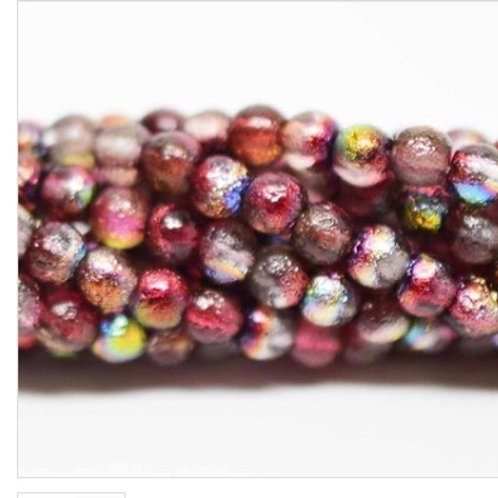 4mm Magic Ruby Etched Smooth Druk