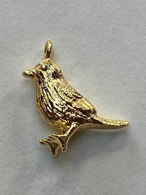 Happy Birdie Charm - Gold