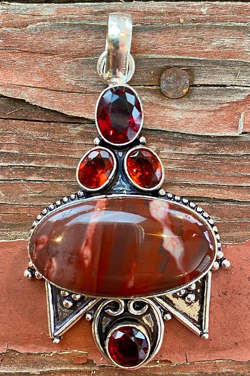 Red Jasper & Garnet Pendant (2)