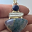 Thumbnail: Moss Agate, Biwa Pearl & Blue Sunstone Pendant w Bail