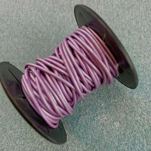 1.5mm Metallic Light Purple Leather cord (1 foot)