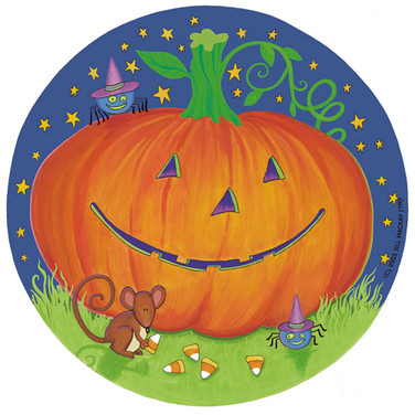 Paper Plate - Pumpkin & Friends - Marker