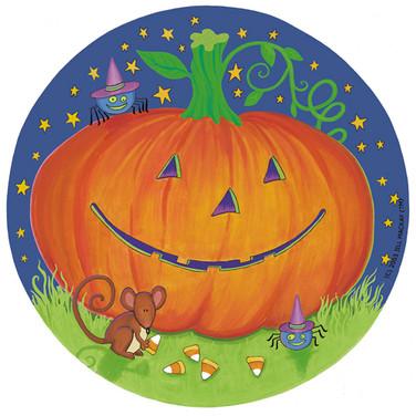Paper Plate - Pumpkin & Friends - Marker