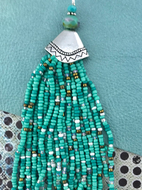 Long Bead Tassel Pendant