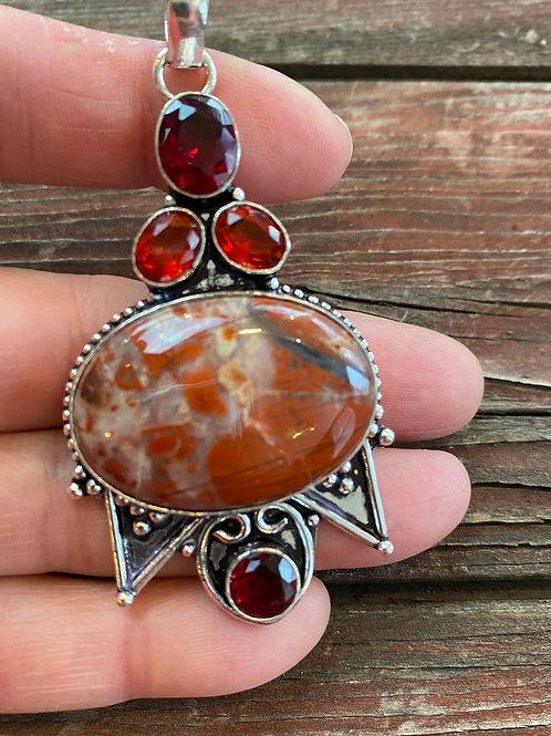 Red Jasper & Garnet Pendant (1)