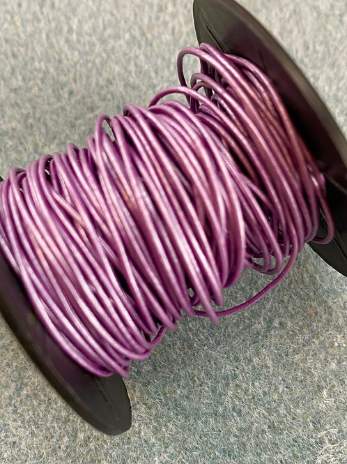 0.5mm Metallic Light Purple Leather Cord (sold by the yard)