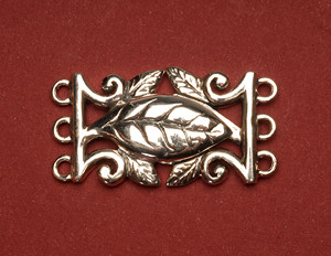 Sterling Silver MAgnetic Leaf Clasp