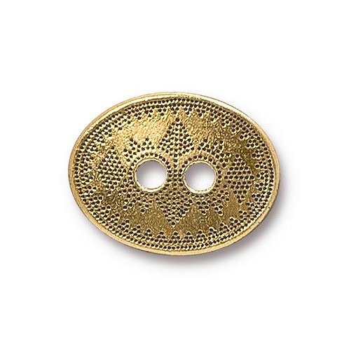 Tribal Style Antique Gold Plate Button