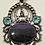 Thumbnail: Highly Detailed Charoite, Blue Topaz Pendant