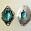 Thumbnail: Fancy Bezel SetBlue Topaz Connector