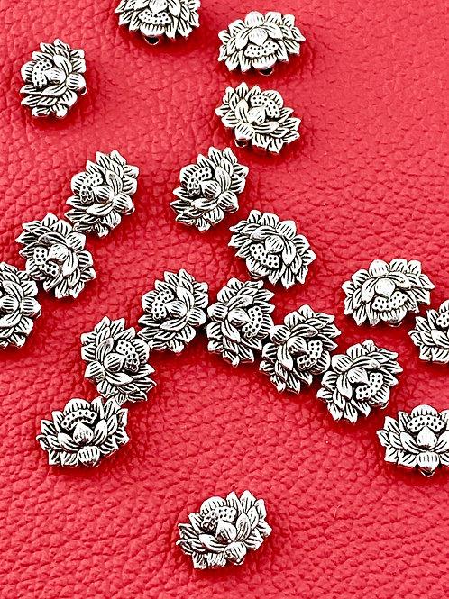 Antique Silver Lotus Blossom Bead (5 pieces)