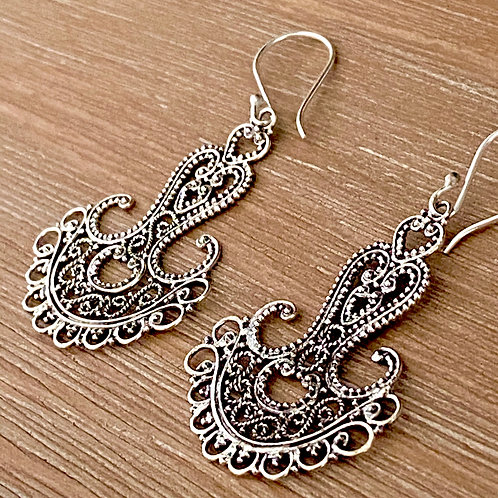 Sterling Silver Fabricated Earrings