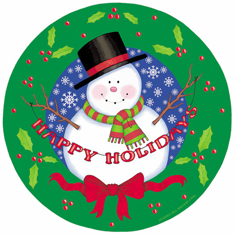 Paper Plate - Snowman Wreath - Marker