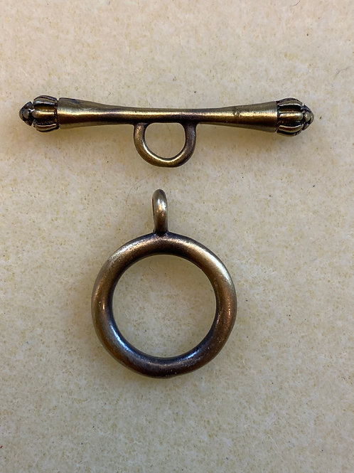 Brushed Antique Brass Scepter Toggle