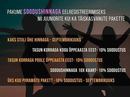 REGISTREERI 10. Hooajaks// Make pre-registration for the 10th season