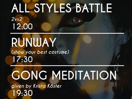 HALLOWEEN Free Flow moodi: battle + kostüümivõistlus + meditatsioon