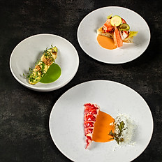 The fish in three courses or the Lobster (supp 14€)