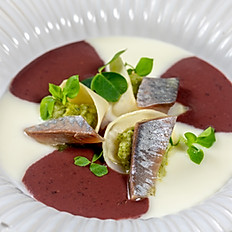 Smoked kohlrabi Smoked herring,