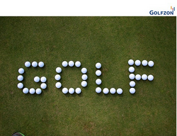 Golfzon golf spelled out