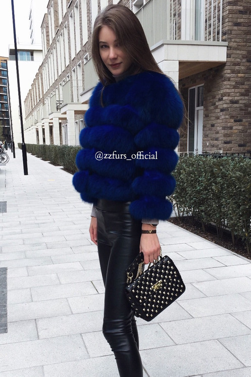 A Forever Stylish Piece Deep Ocean Jacket Is An Oversized Style Jacket That Was Crafted From The Finest Ice Fox Fur Complete With Concealed Hook
