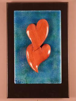 Bubinga Hearts on light blue