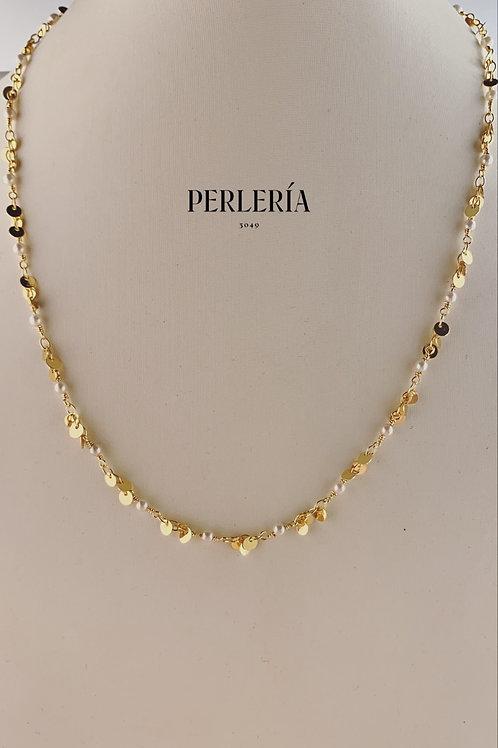 Cadena de chapa de oro  tipo lentejuela