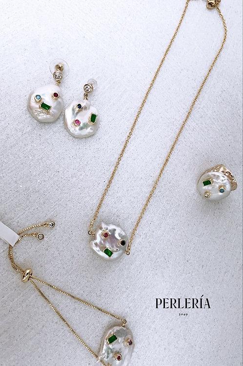 Juego de Perlas con cristales