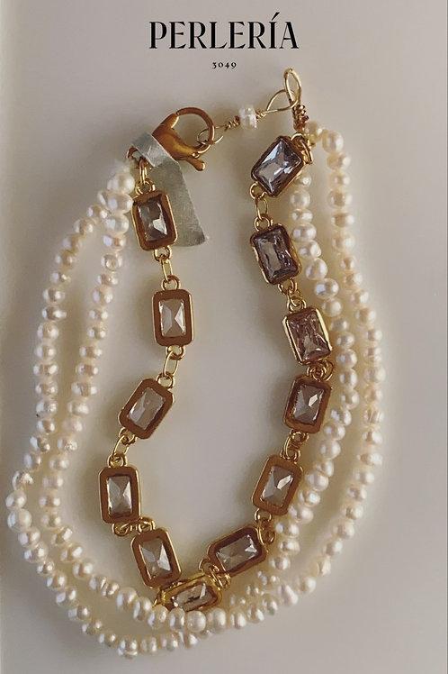Pulsera mini perlas
