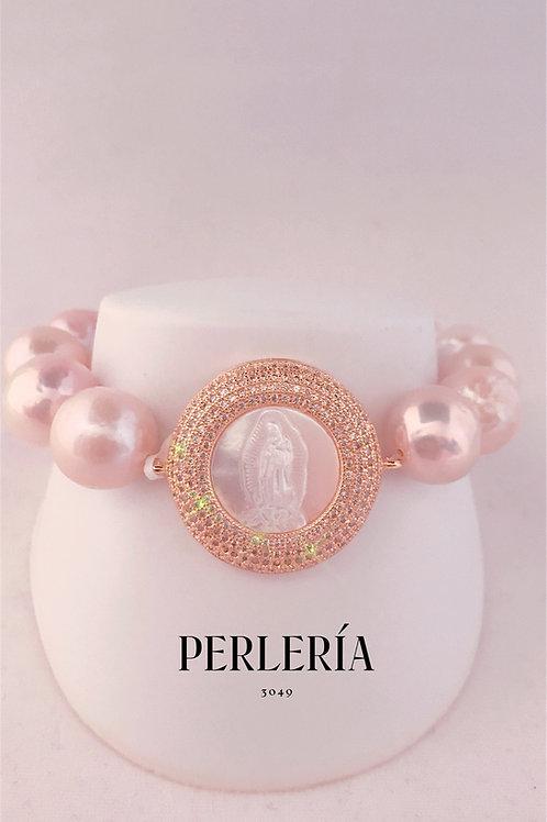 Pulsera Virgen perlas Edison