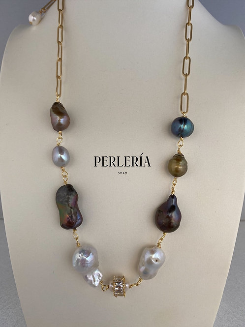 Collar Perlas mix